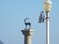 The Rhodian Deer, guarding the entrance to the Port