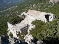 A view down onto part of Monolithos which still stands