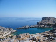 The bay we swum in by Lindos