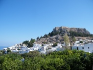 Lindos with the Acropolis above