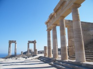 Lots of pillars at the Acropolis