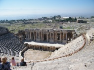 The amphitheatre at Ancient Hieropolis above Pamukkale.