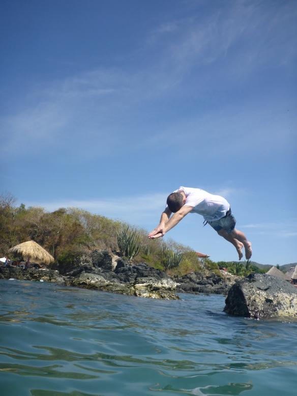 Tom diving
