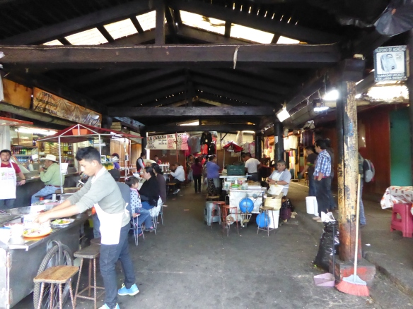 Food area of Patzcuaro mercado