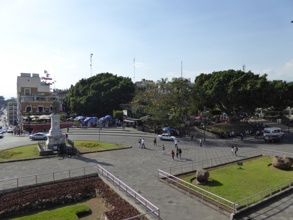 View of the plaza from the Palacio