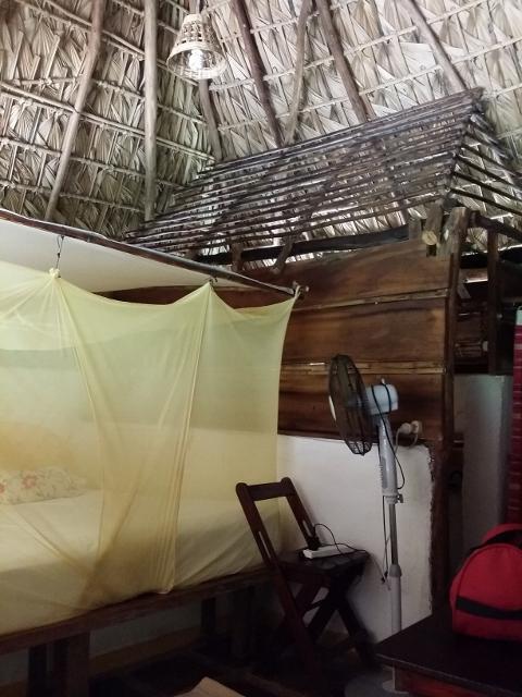 Inside our cabana