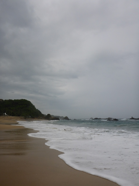 Grey day for beach-going