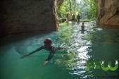 Swimming into ATM cave (not us in this photo). Photo courtesy of MayaWalk Tours